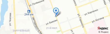 Славянка на карте Челябинска