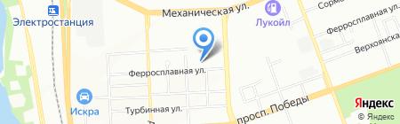 Рефлор на карте Челябинска