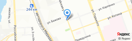 Сударушка на карте Челябинска