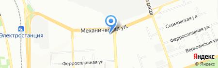 Автокореец на карте Челябинска