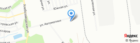 Ермак на карте Челябинска