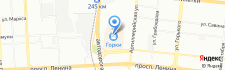 Пан Чемодан на карте Челябинска