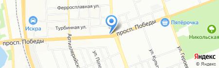 Лилия на карте Челябинска