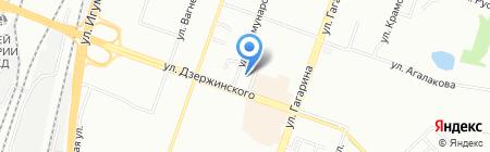 Юрьевский на карте Челябинска