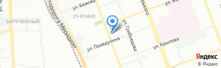 Точка пересечения на карте Челябинска