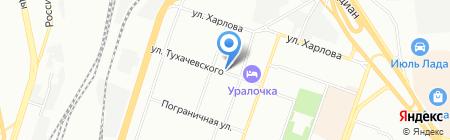 Библиотека №12 на карте Челябинска