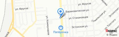 Киоск по продаже цветов на карте Челябинска