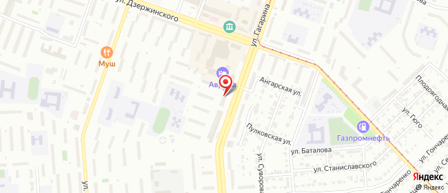 Карта расположения пункта доставки Аврора (на Гагарина, 38) в городе Челябинск
