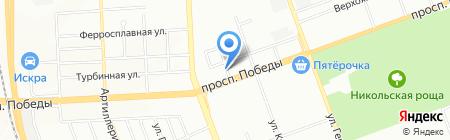 Юрюзань на карте Челябинска