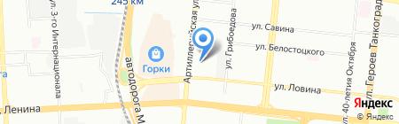 Навита на карте Челябинска
