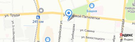 Доминика на карте Челябинска