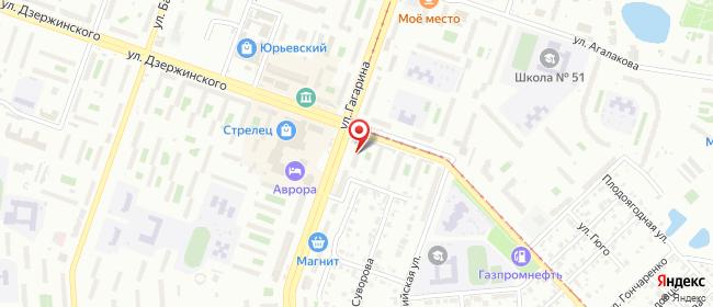 Карта расположения пункта доставки Билайн в городе Челябинск