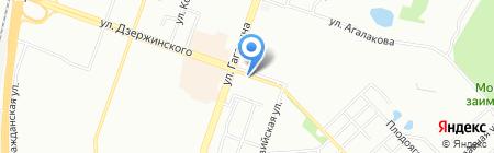 Табачок на карте Челябинска