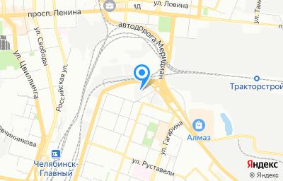Местоположение на карте пункта техосмотра по адресу г Челябинск, ул Луценко, д 12