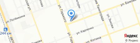 Магазин по продаже бытовой химии на ул. Бажова на карте Челябинска