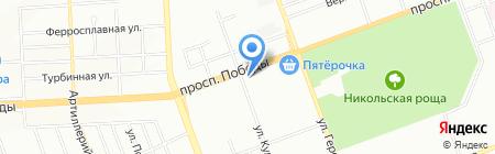 Пятерочка на карте Челябинска
