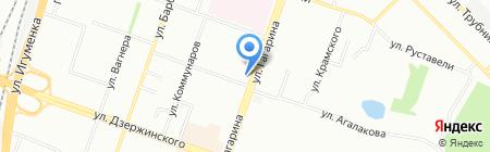 Настенька на карте Челябинска
