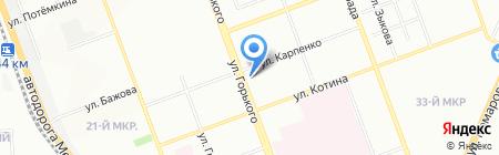 Максим на карте Челябинска