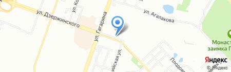 Тернер на карте Челябинска