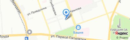 Фабрика флагов на карте Челябинска