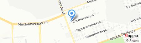 Тист на карте Челябинска