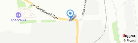 Транском на карте Челябинска