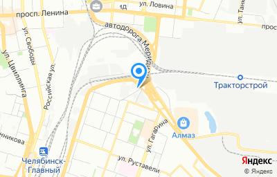 Местоположение на карте пункта техосмотра по адресу г Челябинск, ул Луценко, д 6 стр 3