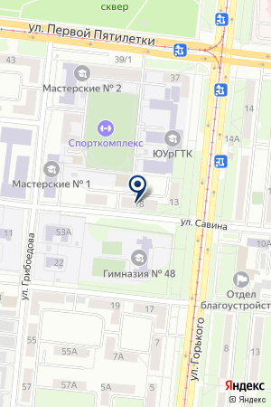 ОБЩЕЖИТИЕ N 3 (МУЖСКОЕ) МОНТАЖНОГО КОЛЛЕДЖА на карте Челябинска