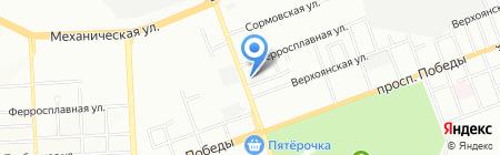 Спектор на карте Челябинска