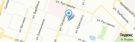 Аквамарин на карте Челябинска