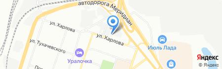Уралстрой-ЖБИ на карте Челябинска