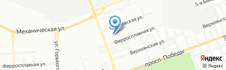 Chery на карте Челябинска