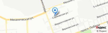 Химлак на карте Челябинска