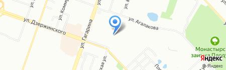 Продуктовый магазин на ул. Агалакова на карте Челябинска