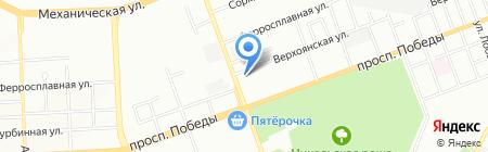 Техпрожект на карте Челябинска