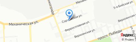 Снабсервис на карте Челябинска