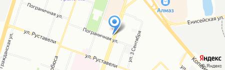 Вечерний Челябинск на карте Челябинска