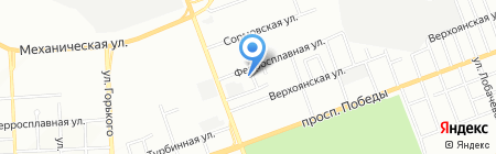 Успение на карте Челябинска