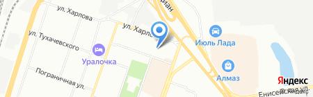 Продуктовый магазин на ул. Челябинского Рабочего на карте Челябинска