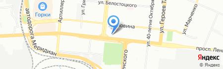 Золотая рыбка на карте Челябинска
