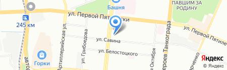 Домашний на карте Челябинска