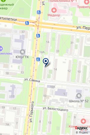 ПАРИКМАХЕРСКАЯ LILY (ЛИЛУ) на карте Челябинска