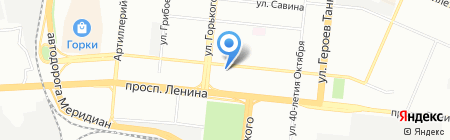 Роза-Мед на карте Челябинска