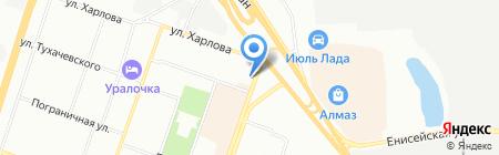 Ветеринарная клиника доктора Калинина на карте Челябинска