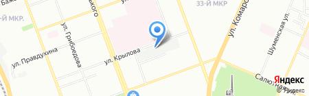 Гаражно-строительный кооператив №406 на карте Челябинска