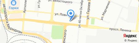Этас на карте Челябинска