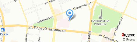 Миор на карте Челябинска