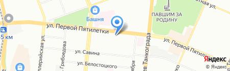 Боярская Станица на карте Челябинска