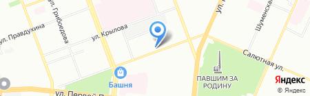 Салютный на карте Челябинска