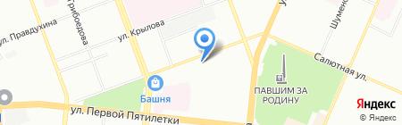 Энергомаш на карте Челябинска